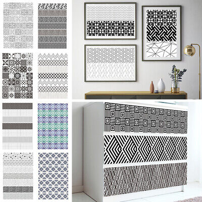 7Pcs Stair Riser Staircase Stickers Mural Vinyl Wall Tiles Decals Self Adhesive • 15.59£
