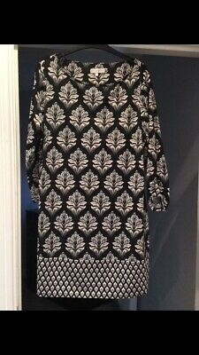 Rocha John Rocha Size 16 Dress Black And Cream Pattern Immaculate Condition • 2.30£