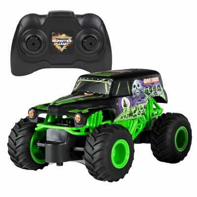 Monster Jam Truck Grave Digger With RC 1:24 Kids Remote Controlled Toy Trucks • 27.30£
