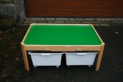 Children's Letter Box Wooden Play Table, Great For Toys,lego And More • 30£