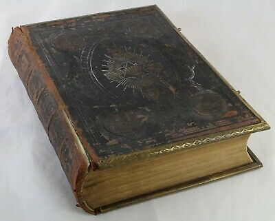 £40 • Buy Antique Browns Self-Interpreting Family Bible Illustrated Post Worldwide.