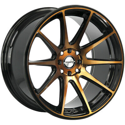 $767.20 • Buy 4-Shift H34 Gear 18x9 4x100/4x4.5  +30mm Black/Bronze Wheels Rims 18  Inch