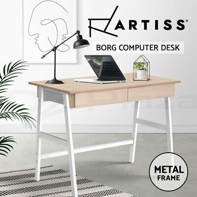 AU79.90 • Buy Artiss Computer Desk Laptop Table Metal Desks  With Drawers Home Office Study