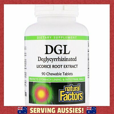 AU95.99 • Buy 4 X Natural Factors, DGL, Deglycyrrhizinated Licorice Root Extract 90 = 360 Tabs