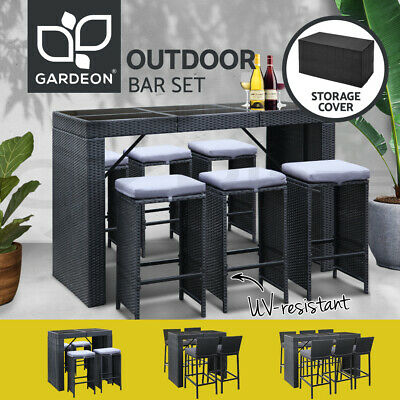 AU652.95 • Buy Gardeon 5/7pcs Outdoor Furniture Bar Table Dining Chairs Stools Set Patio Lounge