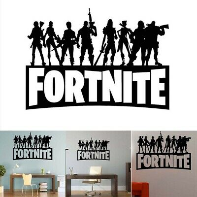 Wall Stickers Silhouette Characters Fort Nite PS4 Xbox Vinyl Wall Art F3 Decals • 5.95£