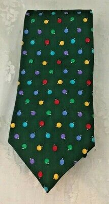 $25.10 • Buy Brooks Brothers Makers Neck Tie 100% Italian Silk Made In USA Christmas Bulbs