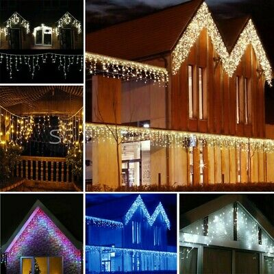Christmas 480/720/960/1200 Led Icicle Snowing Xmas Chaser Lights Outdoor Indoor  • 124.95£
