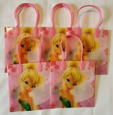 £5.80 • Buy 5 PCS Disney TinkerBell Goodie Party Favor Gift Birthday Loot Bags Pink