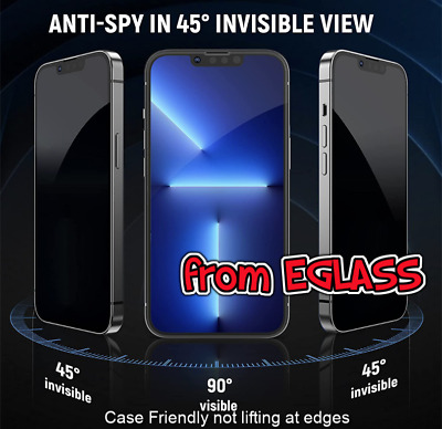 £4.49 • Buy Privacy Tempered Glass Screen Protector IPhone 5 6 7 8 X SE 11 XR XS 12 13 PRO