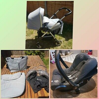 Silver Cross Pursuit And Maxi-cosi Pebble Carseat Including Adapters • 150£