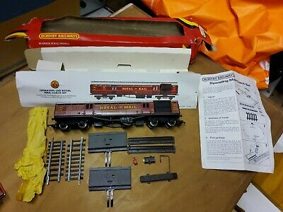 Model Railway Hornby R413 LMS Royal Mail Coach + Trackside Accessorises, Boxed • 35£