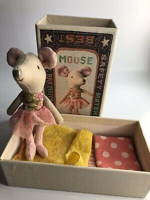 Beautiful Old Ballet Maileg Mouse Ballerina VGC In Match Box With Bed • 21.99£
