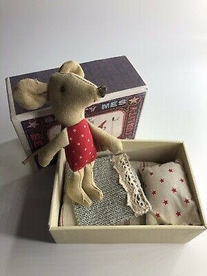 Little Old Maileg Girl Mouse Good Condition Few Marks On Matchbox • 13.50£
