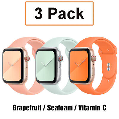 AU12.99 • Buy 3 Pack Silicone Sport Band Strap Fit Apple Watch 6 5 4 3 IWatch SE 38/40/42/44mm