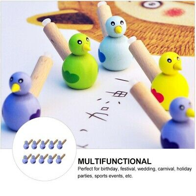 10pcs Wooden Bird Whistle Toy Funny Music Toy Party Supply For Children • 7.41£