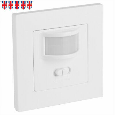 Automatic 2 Wire Infrared On Off PIR Motion Sensor Wall Mounted LED Light Switch • 10.92£