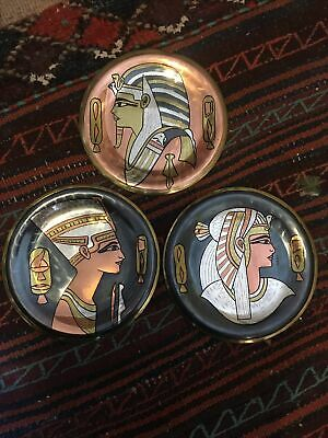 Egyptian Metal Plates X 3 • 7£