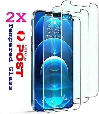 AU3.89 • Buy 2X Tempered Glass Screen Protector IPhone 12 6S 11 PRO Max XR X XS 7 8 SE 4 Plus