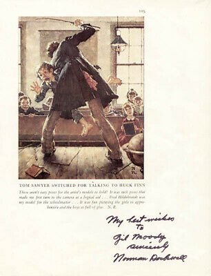 $ CDN1020.72 • Buy Norman Rockwell - Inscribed Book Photograph Signed