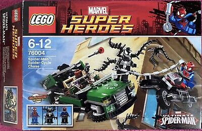 LEGO Marvel Super Heroes 76004 Spider-Man Spider-Cycle Chase - 100% Complete • 10£