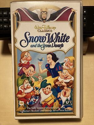 Snow White And The Seven Dwarfs Walt Disney Classics VHS • 2.50£