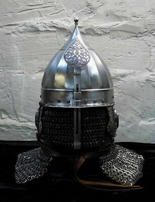 16 Gauge Steel Medieval Ottoman Islamic Helmet Historical With Chainmail • 375£