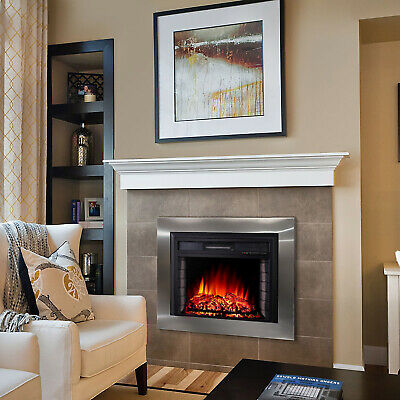 30'' Embedded Electric Fireplace Insert Wall Into Electric Stove Heater & Remote • 127.19£