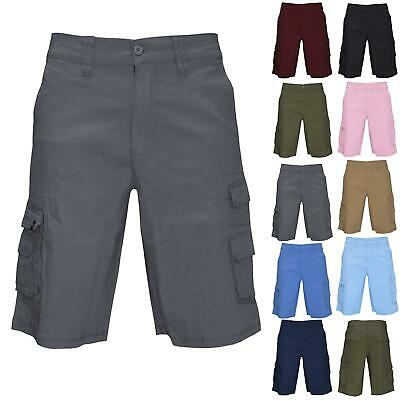 Airwalk Mens Shorts Knee Length Cargo Combat Waist Zip Up Double Pocket Summer • 7.05£