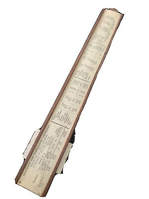 Unique Electrical Slide Rule (comes With A Box) • 1.90£