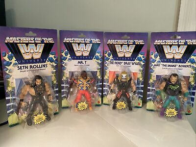 $115 • Buy WWE Masters Of The Universe Wave 4 Set W/Jake The Snake Mr T Fiend,Seth -Read!
