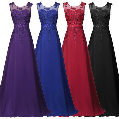 New Formal Dresses Long Chiffon Evening Party Ball Gown Prom Bridesmaid Dress • 17.47£