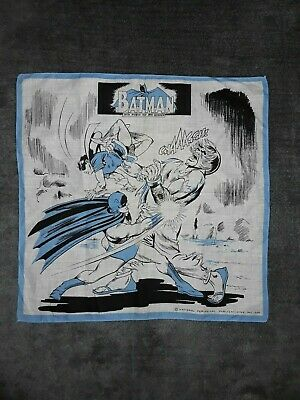 Vintage Batman With Robin The Boy Wonder  Handkerchief 1966  • 5£
