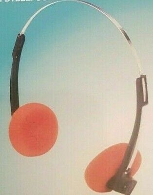 SOUND LAB Vintage Retro Style Stereo Orange Headphones 3.5 Mm Jack / 1.15 M Lead • 3.99£