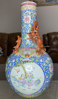 A Very Large Early 20th Century Chinese Famille Rose Vase  • 28£