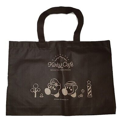 LIMITED Nintendo Kirby Cafe Brown Tote Bag MADE IN JAPAN • 0.99£