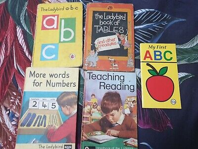Vintage Ladybird Book Bundle ABC Numbers Reading Tables Maths Sums Educational  • 12.99£