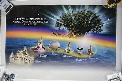 Disney's Animal Kingdom Grand Opening Day Poster April 22nd 1998 WDW. • 7.50£