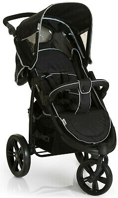 NEW Hauck Viper SLX 3 Wheeler Pushchair Pram Buggy Stroller Black/Grey+Raincover • 129.99£