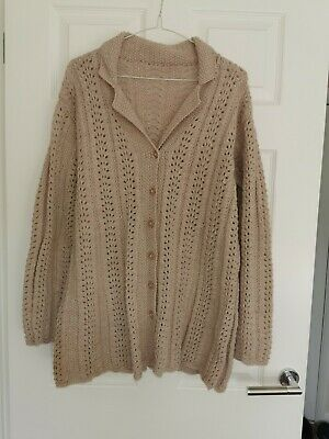 Ladies Hand Knitted Cardigan Size 16 • 8.99£