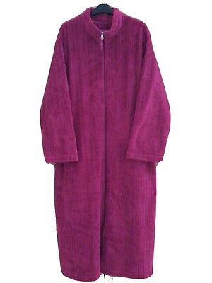 Carole Hochman Supersoft Zip Front Plush Velour Dressing Gown Size XL • 4.20£