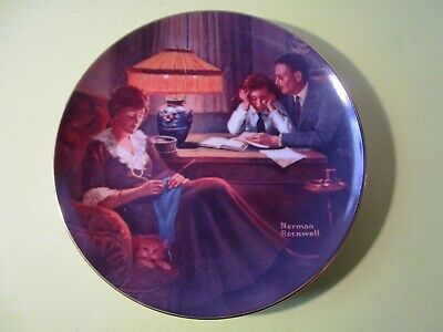 $ CDN20.76 • Buy Norman Rockwell Collector Plate - Father's Help