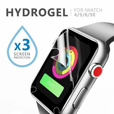 AU3.95 • Buy 3x For Apple Watch 6 5 4 Apple Watch SE 44&40mm IWatch Hydrogel Screen Protector