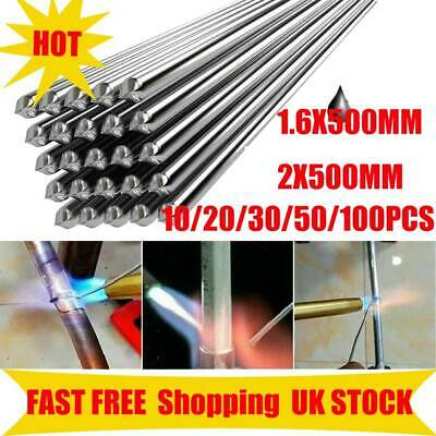 10-50PCS Solution Welding Flux-Cored Rods Free Shipping 2/1.6mm Wire  Brazing`P • 3.97£