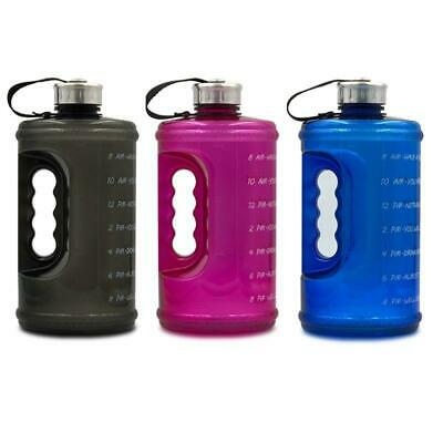 AU14.32 • Buy 2.2L Large Capacity Sports Water Bottle With Handle And Time Marker Outdoor