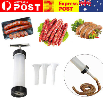 AU26.85 • Buy Manual Sausage Stuffer Maker Meat Filler Machine For Home Kitchen Use AU