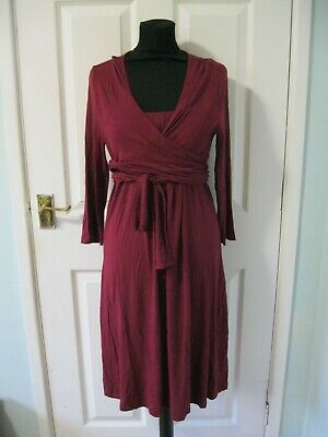 Gap Maternity Dress Size M 12 14 Red Swing Christmas Wrap Tea Vintage Shift • 8.50£