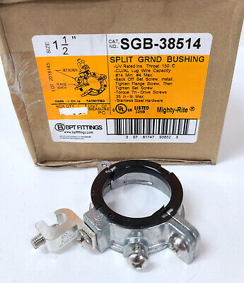AU6.42 • Buy ONE SGB-38514 Bridgeport 1-1/2  SPLIT GROUND BUSHING #14- #4 AWG