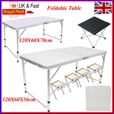 Outdoor Kitchen Dining Camping Garden Picnic Folding Table - Chair Set Portable • 12.98£