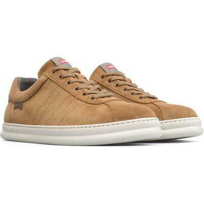 £64.99 • Buy Camper Runner Mens 023 Brown Lace Up Soft Leather Trainers Shoes Size UK 8-11